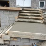Forming Front Steps