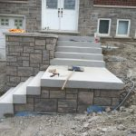 Front steps finished